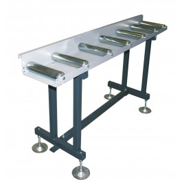 Roller conveyor with sliding stop & scale
