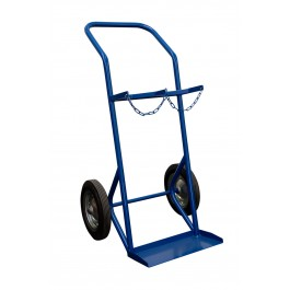 Steel cylinder trolley for 2 x 50 l cylinders