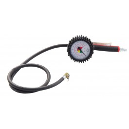 Professional tyre inflator with connector