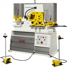 Hydraulic profile steel shear and hole punch