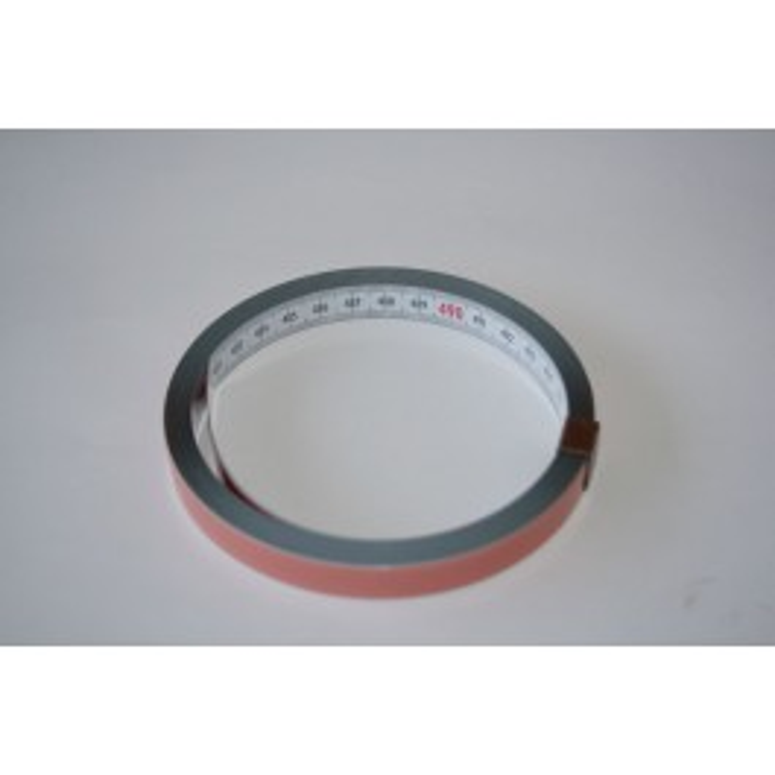 Tape measure for roller conveyor, self-adhesive
