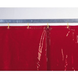 Welding protection curtain red