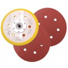 Grinding disc Ø 150 mm, 6-hole perforated adhesive/vinyl