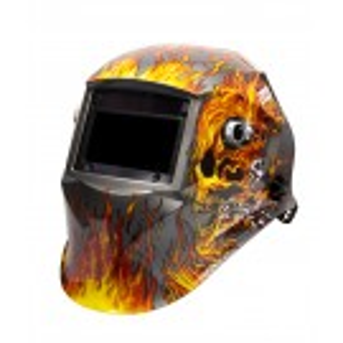 Automatic welding helmet, 'FLAME' design