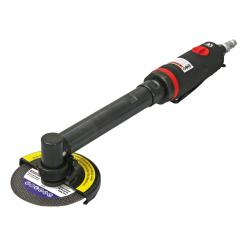 Compressed air long-handle angle grinder