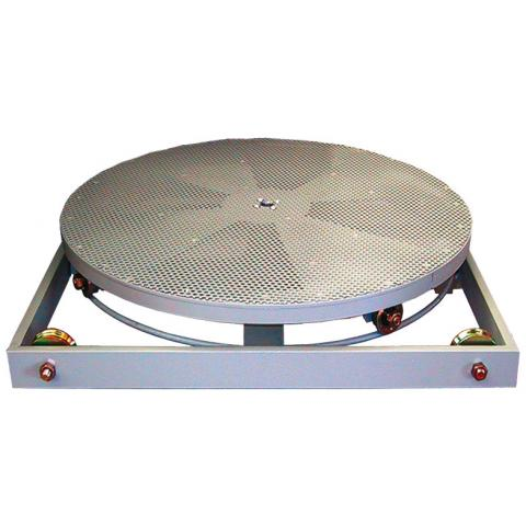 Roller tables with turntable