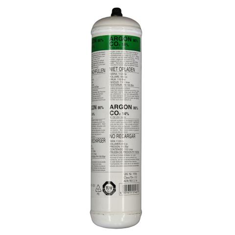 Disposable gas cylinders