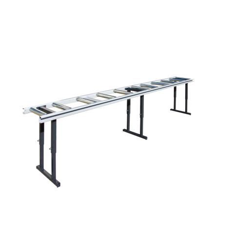 Roller conveyors for saws